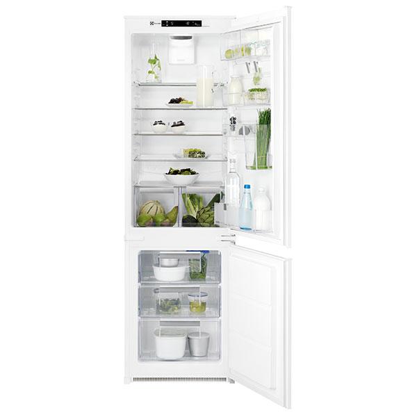 Electrolux ENN2874CFW, vestavná kombinovaná chladnička, energetická účinnost A++, praktický kontejnerový systém skladování potravin ve dveřích, vestavná výška 178 cm, celkový čistý objem 264 l, elektronické ovládání, 21 165 Kč.