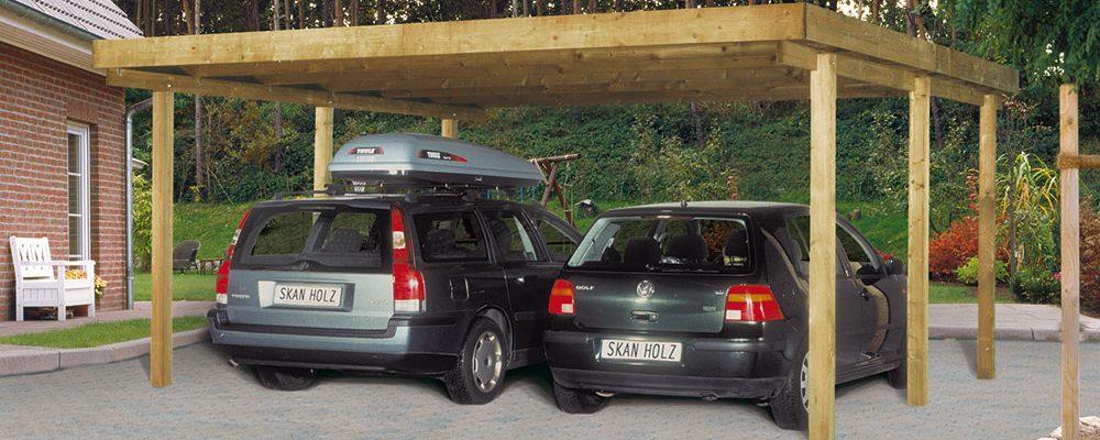Ochraňte auto dřevěným přístřeškem