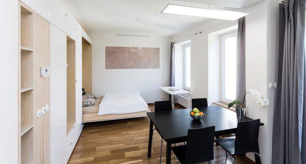 Stylový minibyt na 25 metrech čtverečných: Co všechno se do jedné místnosti vejde?