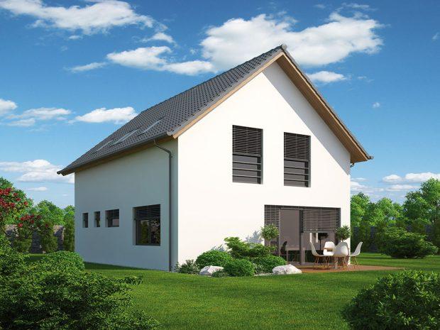 Hmota i dispozice zůstávají, pouhou změnou materiálu střechy či fasády lze domu dodat zcela novou tvář. FOTO EKNOMICKÉ STAVBY