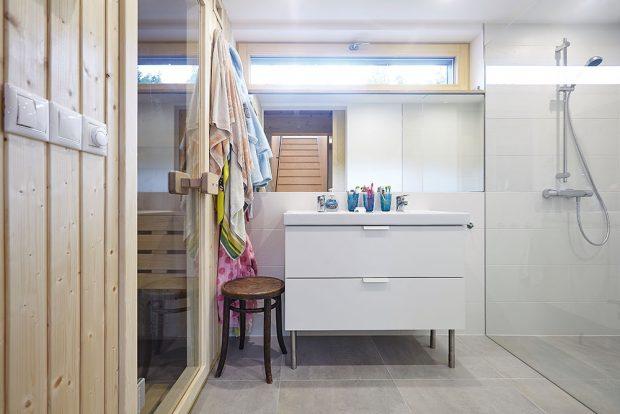Roztopená sauna udržuje v domě dobrou náladu i během deštivých dnů. FOTO: Jiří Princ