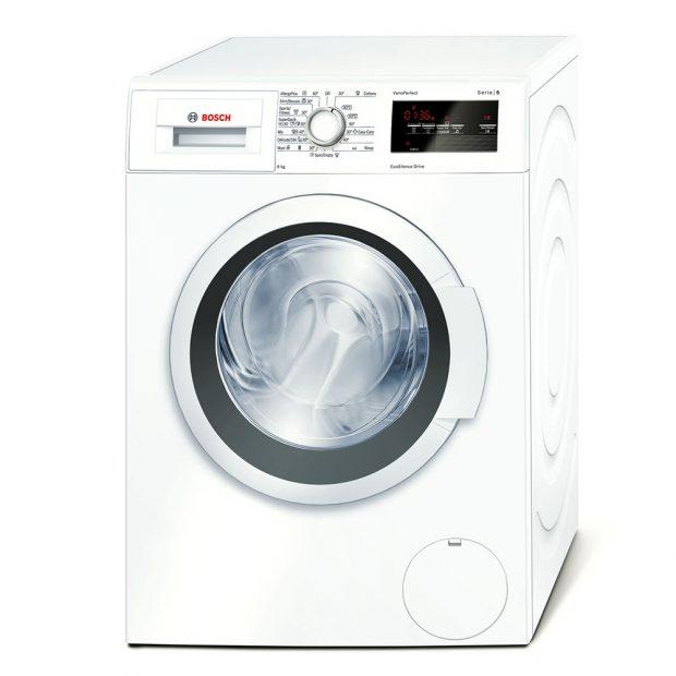 Bosch WAT24360BY, automatická pračka, energetická třída A+++, kapacita bubnu 8 kg, tichý motor EcoSilence Drive™, volitelné nastavení programu, šetrné a intenzivní praní díky speciální struktuře bubnu, program AlergiePlus, přibližná roční spotřeba vody 9 900 l, 12 290 Kč.