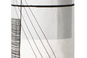 Koupelnový koš na prádlo Trace s efektními, minimalistickými motivy. FOTO DESIGNVILLE