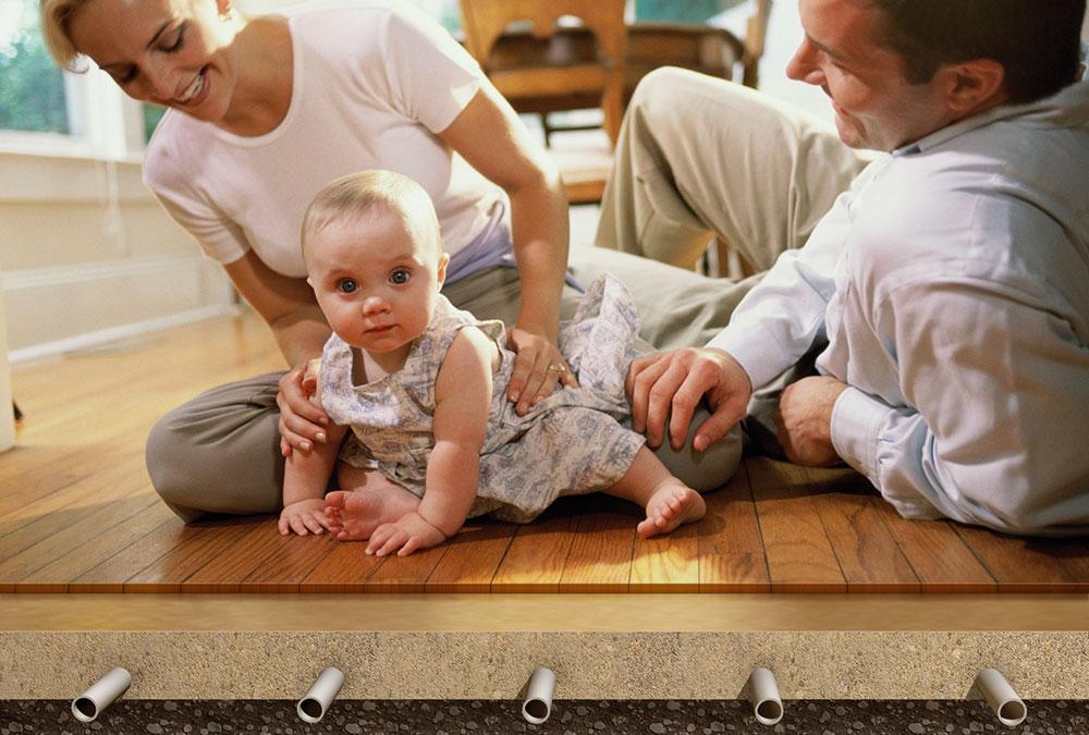 Lité podlahy výborně vedou teplo