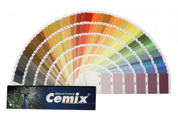 Omítka Activcem je dodávána v široké nabídce odstínů podle vzorníku Cemix Duhově krásný Zdroj LB CEMIX, s.r.o.