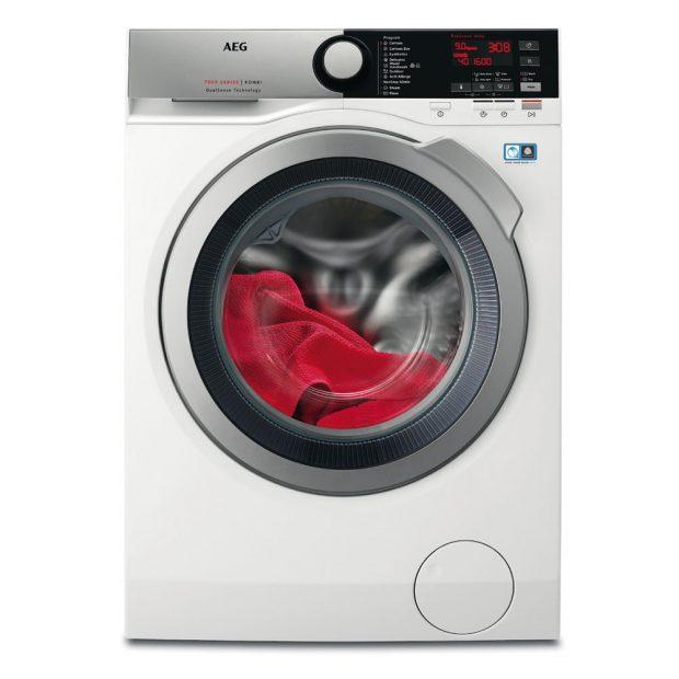 AEG DUALSENSE™ L7WBE69S, pračka kombinovaná se sušičkou, energetická třída A, kapacita bubnu 9 kg, péče o funkční oděvy, speciální programy: přednastavený NonStop program 1 kg prádla za 1 hodinu, Antialergický, Jemné, Vlna/ruční praní, Outdoor, Parní osvěžení, 19 990 Kč.
