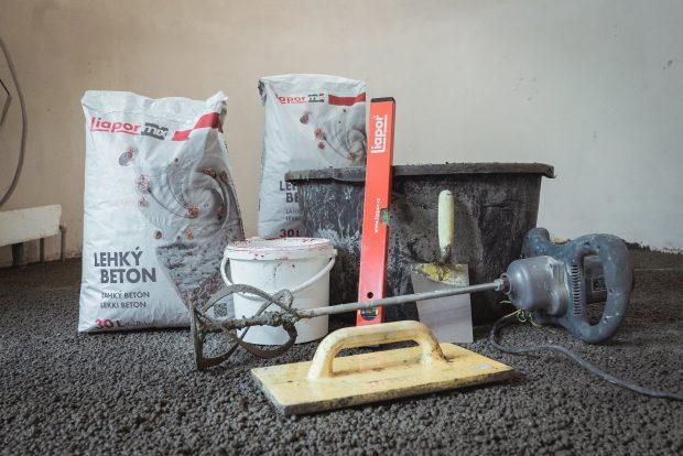 Potřeby pro realizaci podlahy z lehkého betonu