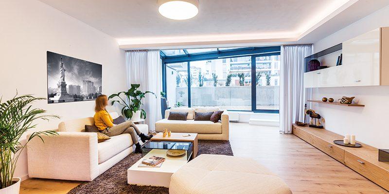 Nápady do otevřeného prostoru: Vzorový byt v bratislavské Dúbravce