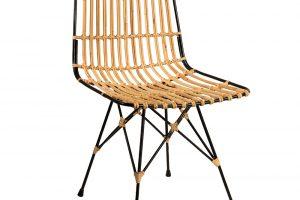 Kubu Chair, černý kovový rám, výplet z ratanu o rozměru 6–8 mm, gumové nohy, rozměry 56,5 x 47 x 80,5 cm, výška sedáku 47 cm, hloubka sedadla 43 cm, info o ceně na www.dutchbone.com