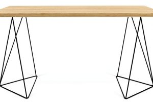 Stůl TemaHome Flow, 6 899 Kč, 75 x 140 cm, výška 75 cm, dřevotřísková deska s dubovým vzorem, 6 899 Kč, www.bonami.cz