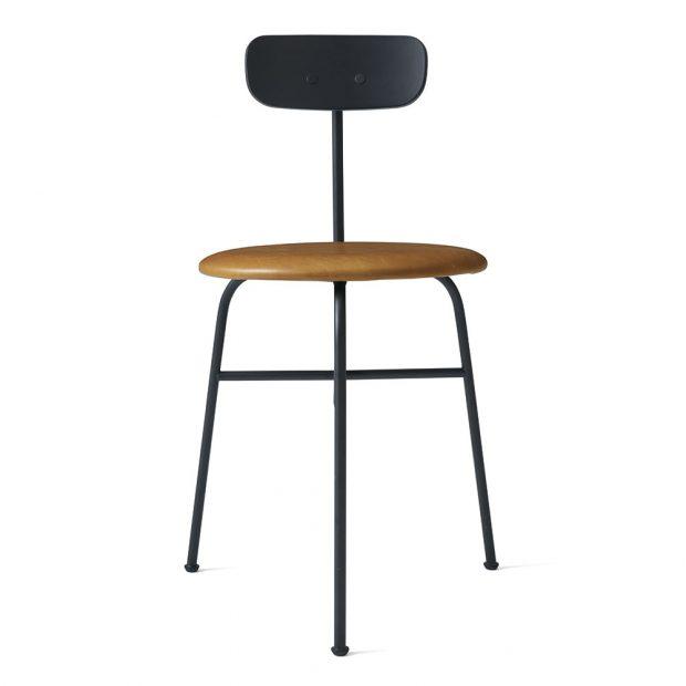 Jídelní židle Afteroom, od Menu, barva černá a koňak, lakovaná ocel, lakované dřevo, rozměry 76,5 x 42,5 x 51 cm, výška sedáku 43 cm, www.menu.as