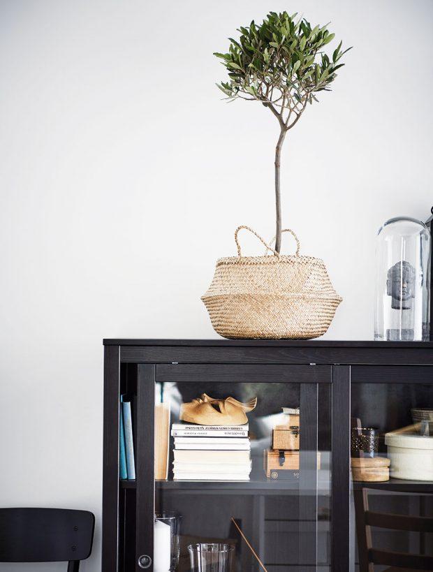 Koš Fladis, mořská tráva, výška 32 cm, průměr 25 cm, 249 Kč, IKEA