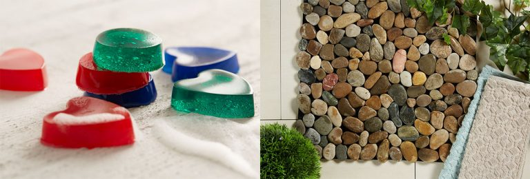 Oživte svou koupelnu vlastnoručně vyrobenou kosmetikou či efektní podložkou!