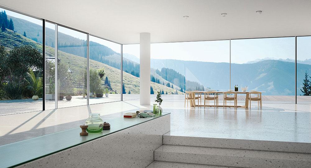 Luxusní bydlení za sklem