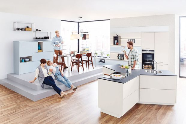 Kuchyně Y od Ballerina, ostrůvková kuchyně vrevolučním řešení od designéra Michaela Hilgerse, www.ballerinakuchyne.cz