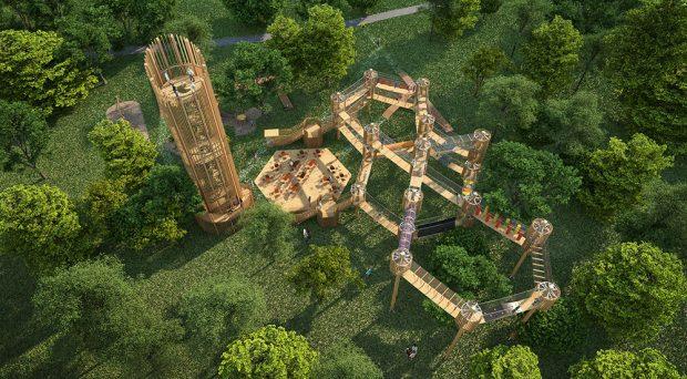 Vyhlídková věž na Šibeníku, soutěžící Unipark; Vítěz veřejného hlasování v kategorii Dřevěné konstrukce – návrhy