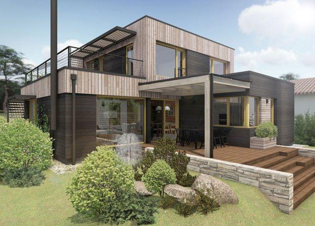 Casa Miguel, soutěžící ARCHCON atelier, s.r.o.; Vítěz veřejného hlasování v kategorii Moderní dřevostavby – návrhy