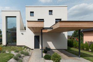 Díky slunečnímu trychtýři splnil rodinný dům přísná kritéria pasivních domů