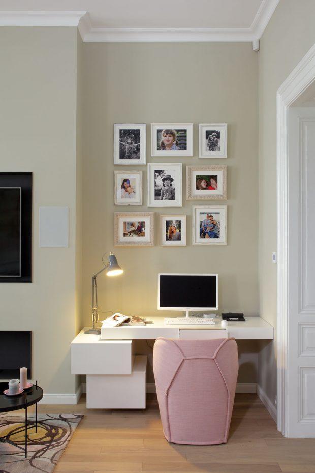 Zařizovacím předmětům v obývacím pokoji vládne harmonie a soulad v barvách i tvarech. FOTO ROBERT ŽÁKOVIČ