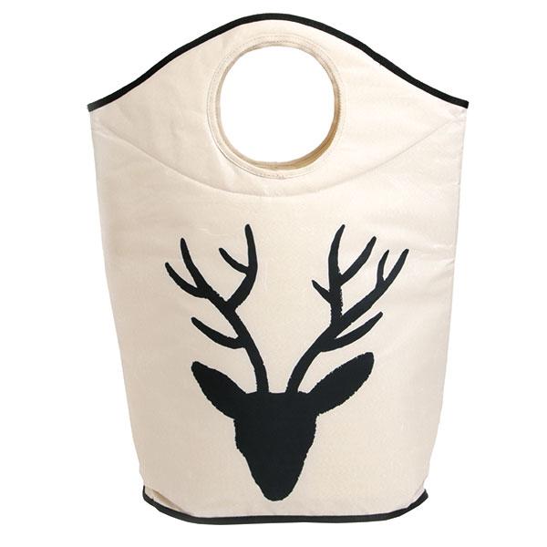 Koš na prádlo soboustranným potiskem, pevný asnadno omyvatelný, 57 × 70 × 26 cm, www.butterkings.com
