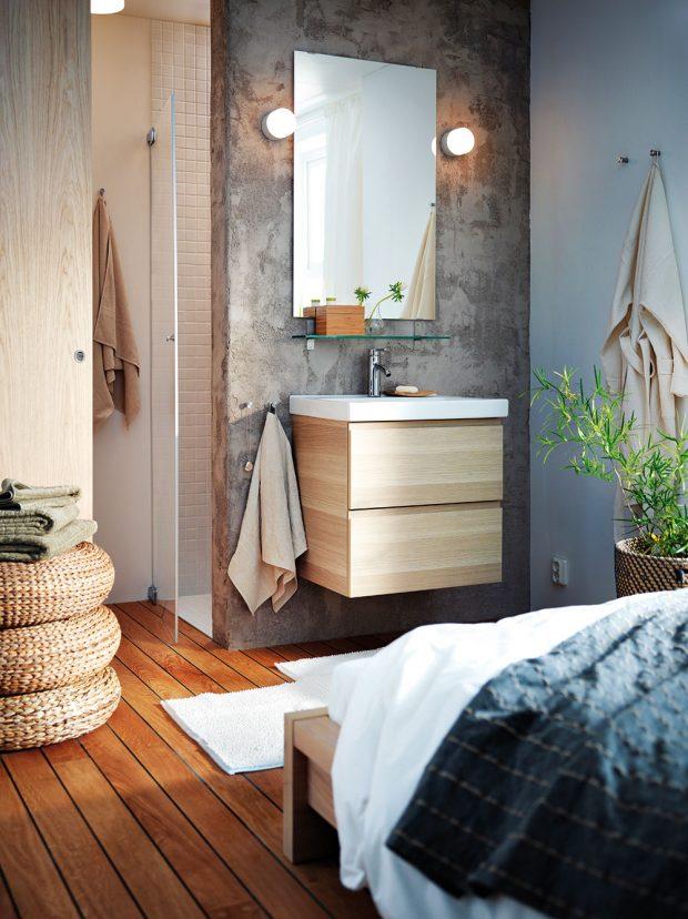 Umyvadlová skříňka se 2 zásuvkami, bíle moř. dub, 100 x 49 x 64 cm, cena 6790 Kč, www.ikea.cz