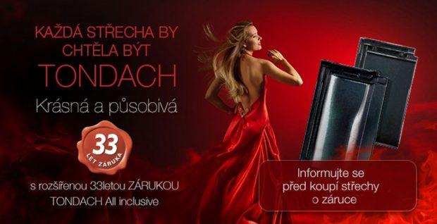 Tondach poskytuje rozšířenou 33letou záruku, která zahrnuje všechny náklady spojené s výměnou reklamované krytiny FOTO TONDACH