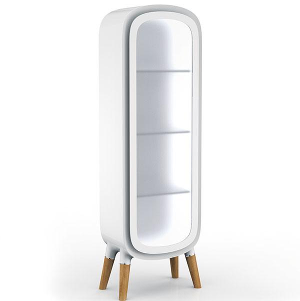 Koupelnová skříňka Modern Nomads, design Paul Flowers, kompozitní materiál včerné nebo bílé barvě, cena na dotaz, www.corian.de