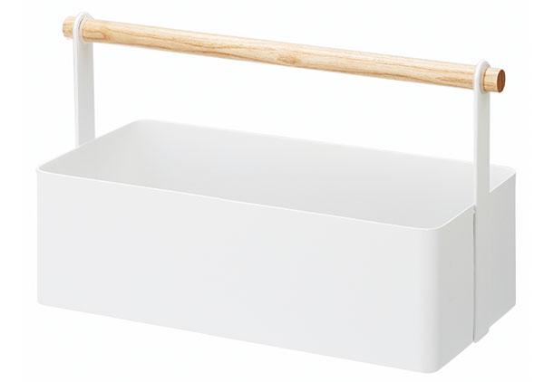 Multifunkční box Tosca Tool Box od Yamazaki, lakovaný kov, bukové dřevo, ve více velikostech, cena od 695 Kč, www.naoko.cz