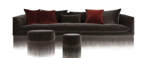 Pohovka Amami (Mooi), design Lorenza Bozzoli, potah 100% bavlna, 3 zádové polštáře vceně, možno dokoupit sadu pěti přídavných polštářů, 250 x 95 cm, cena od 229 180 Kč, www.bulb.cz