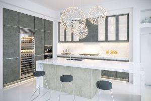 Kuchyně T.classic, folie s dekorem beton, www.trachea.cz