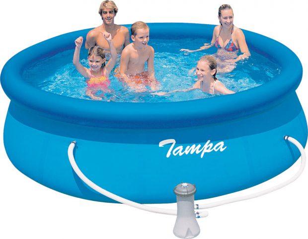 Nadzemní bazén Marimex Tampa, třívrstvé PVC a polyester, 3,66 x 0,91 m, cena 2 190 Kč, www.hornbach.cz