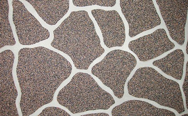 Mozaiková omítka v šabloně DECOR kámen oválný.. Zdroj LB Cemix