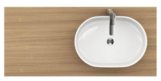 UMYVADLO RAVAK MOON 2 zautorské kolekce nominované na Czech Grand Design 2016 si získalo mnoho příznivců, délka 56 cm, šířka 40 cm, varianta ovál, litý mramor, bílá, cena 5 990 Kč