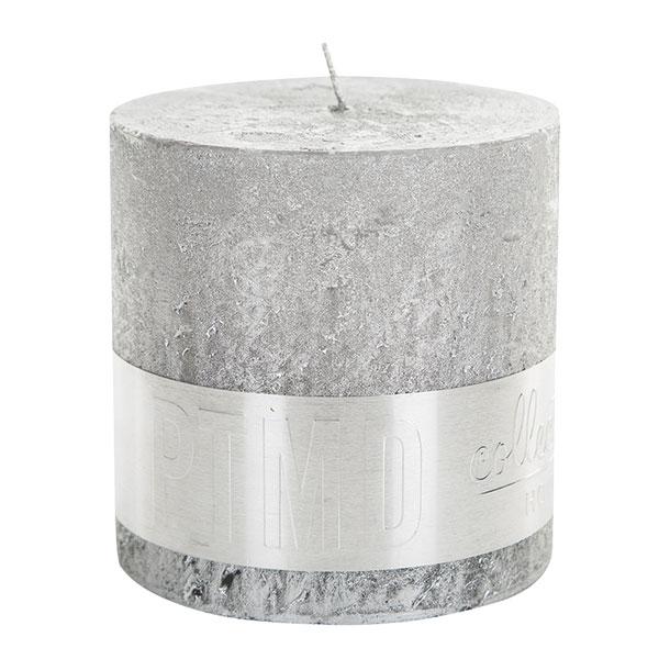 Stříbrná svíčka (PTMD Collection), 10 x 10 x 10 cm, cena 230 Kč, www.gbdesign.cz