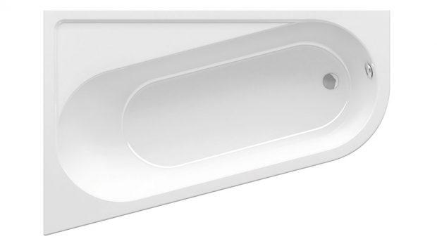 VANA RAVAK CHROME asymetrická je pohodlná avybavená praktickými odkládacími plochami, vestavná, délka 160 cm nebo 170 cm, vnější šířka 105cm, litý akrylát, barva snowwhite, cena od 10 990 Kč, www.ravak.cz