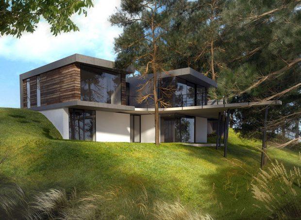 Ploché střechy umožňují racionálnější využití zastavěné plochy a za předpokladu dodržení správných technologických postupů fungují stejně dobře, jako šikmé střechy. (FOTO WWW:DESTYL.CZ)