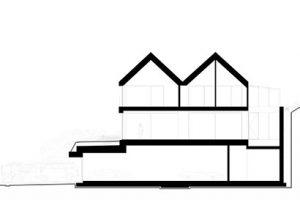 Pohled na fasádu: sekce A-A zdroj Arch-Deco
