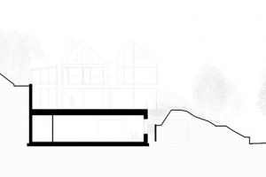 Pohled na fasádu: sekce B-B zdroj Arch-Deco