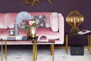 Obývací pokoj ve stylu glamour
