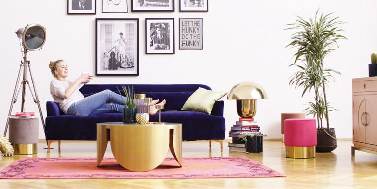 Obývací pokoj ve stylu filmových hvězd