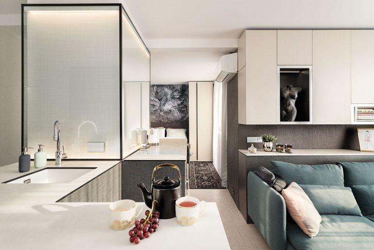 Vkusný a hravý interiér: Malý byt v panelovém domě