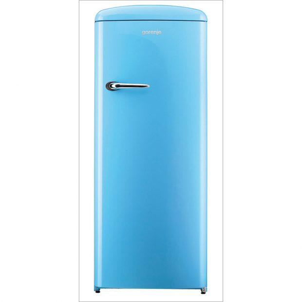GORENJE ORB152BL kombinovaná chladnička rozehraje vaši funky stránku, energetická třída A++, zeleninová zásuvka CrispZone, regulace vlhkosti, řízená cirkulace vzduchu, šířka 60 cm, výška 154 cm, 19 990 Kč, www.gorenje.cz