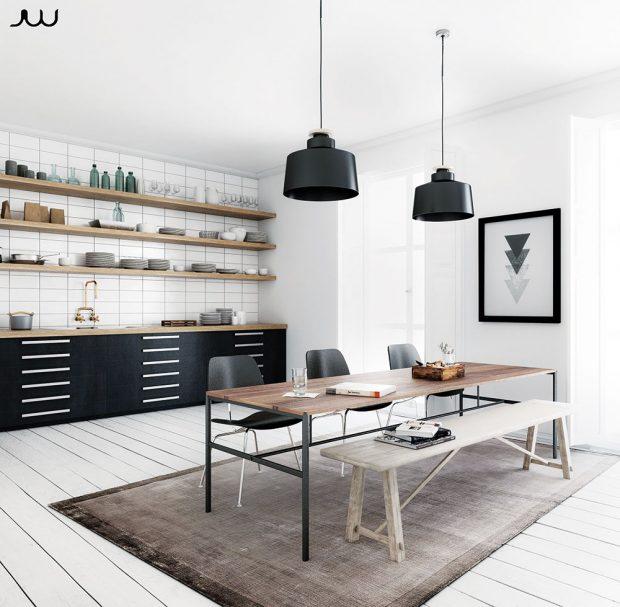 Černá barva vypadá luxusně amožná trochu přísně, proto by se sní mělo šetřit ive strohém interiéru. www.pinterest.com
