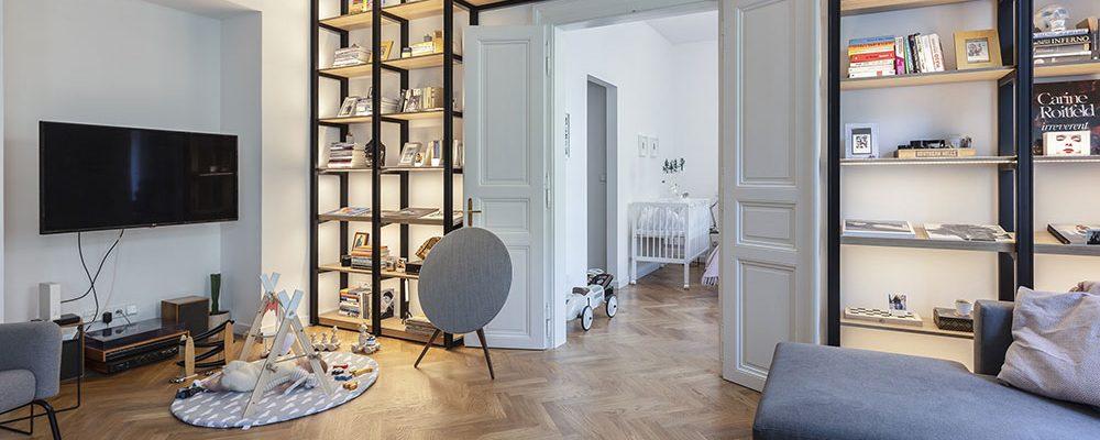 S citem rekonstruovaný vinohradský byt okouzlí otevřeností a autentičností