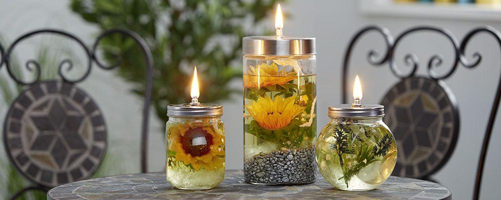 Květinová olejová lampa