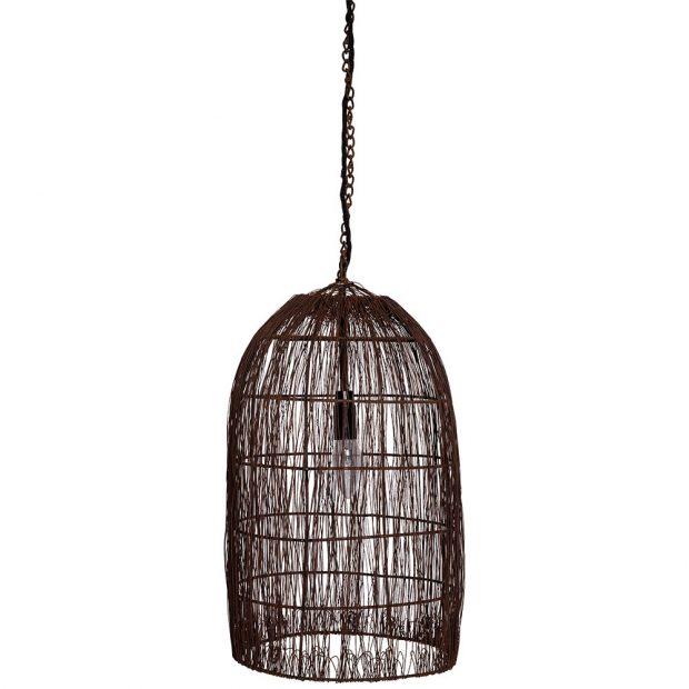 Závěsná lampa Old Fishing Net (Snowdrops Copenhagen), rezavějící kov spatinou, 3383 Kč, www.iconioo.cz