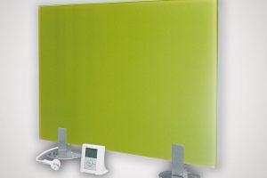 Sálavý GR panel je proveden zbezpečnostního tvrzeného skla, topného elementu, omezovacího termostatu apřívodního kabelu. Standardně je určen kpevné instalaci na stěnu. Panely je možné zavěsit na šířku ina výšku. Vyrábějí se vněkolika barevných provedeních: bílá, černá, žluto-zelená, červená azrcadlo. Vpřípadě, že nelze zavěsit GR panel na stěnu, je možné použít sadu chromovaných podpěr kpostavení panelu na podlahu. www.fenixgroup.cz