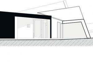 Pohled na severní fasádu ZDROJ Invit Arkitekter