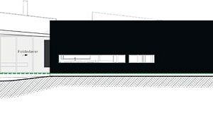 Pohled na východní fasádu ZDROJ Invit Arkitekter