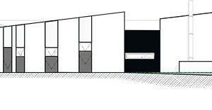 Pohled na západní fasádu ZDROJ Invit Arkitekter